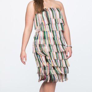Brand new strapless fringe dress